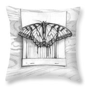 Butterfly With Matchbook Throw Pillow
