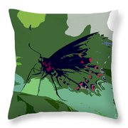 Butterfly Work Number Ten Throw Pillow