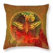 Butterflyman Solarlife Throw Pillow by Joseph Mosley
