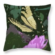 Butterfly's Delight Throw Pillow