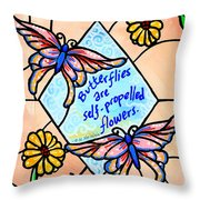 Butterflywhispers1 Throw Pillow