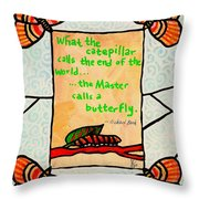 Butterflywhispers3 Throw Pillow