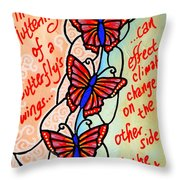 Butterflywhispers4 Throw Pillow