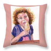 Butterscotch Treat Throw Pillow