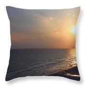 Buttery Sunset Throw Pillow