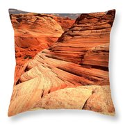 Buttes And Checkerboards Throw Pillow
