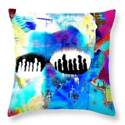 Button Down Disasters Throw Pillow
