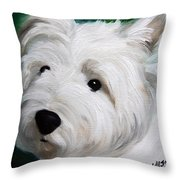 Button Nose And Eyes Of Coal Throw Pillow
