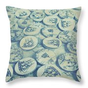 Button Seas Throw Pillow
