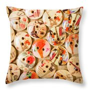 Buttoning A Background Throw Pillow