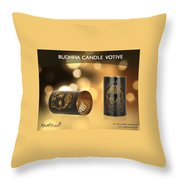 Buy Attractive Buddha Candle Votive From Rustik Craft  Throw Pillow