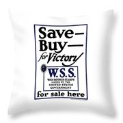 Buy For Victory Throw Pillow