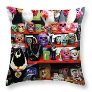 Buy From Me Day Of The Dead  Throw Pillow