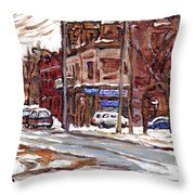 Buy Original Paintings Montreal Petits Formats A Vendre Scenes De Pointe St Charles Cspandau Artist Throw Pillow