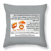 Buy Soundcloud Followers For Audience Attention- Buysoundcloudlikes Throw Pillow