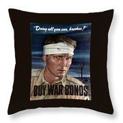 Buy War Bonds Throw Pillow