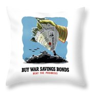 Buy War Savings Bonds Throw Pillow