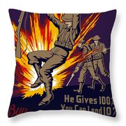 Buy War Stamps And Bonds Throw Pillow