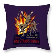 Buy War Stamps And Bonds Throw Pillow by War Is Hell Store