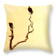 Buzzard Art Throw Pillow