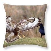 Buzzard Landing Throw Pillow