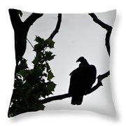 Buzzard Silhoutte Throw Pillow