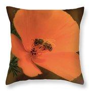 Buzzing Bee 1 Throw Pillow
