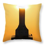 Buzzing The Tower Throw Pillow