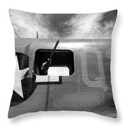 Bw Aircraft Gunner Window Throw Pillow