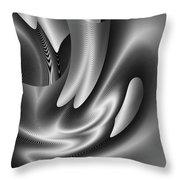 Bw Art 10 Throw Pillow by Visual Artist Frank Bonilla
