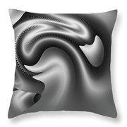 Bw Art 9 Throw Pillow by Visual Artist Frank Bonilla