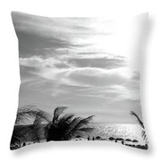 Bw Beach Throw Pillow