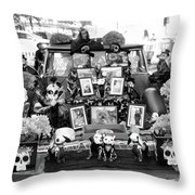 Bw Classic Car Trunk Decor Day Dead  Throw Pillow