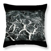 Bw Crackle Throw Pillow