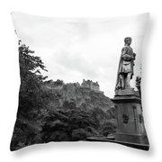 Bw Edinburgh Scotland  Throw Pillow