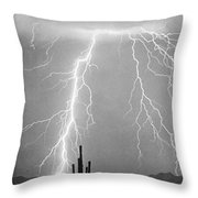 Bw Lightning From Heaven Throw Pillow
