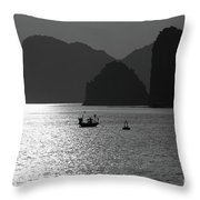 Bw Tones Ha Long Bay Vietnam  Throw Pillow