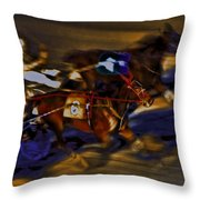 By A Nose 2 Throw Pillow