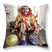 By Blood A King In Heart A Clown Throw Pillow
