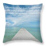 By Faith Throw Pillow