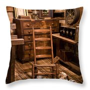 By-gone Days Throw Pillow