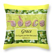 By Grace Throw Pillow