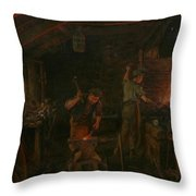 By Hammer And Hand All Arts Doth Stand Throw Pillow