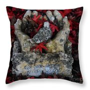 By His Hands Throw Pillow