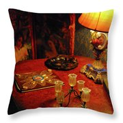 By Lamplight Throw Pillow