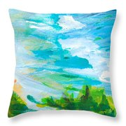 By The Beach Throw Pillow