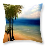 By The Beach Throw Pillow