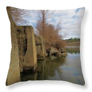 By The Bridge Throw Pillow
