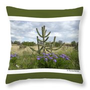 By The Cactus Throw Pillow