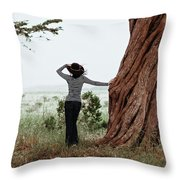 By The Cypress Throw Pillow